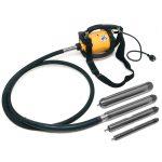 Conjunto del vibrador de hormigón DINGO ENAR. Grupo motor con agujas AX y transmisión TDX.