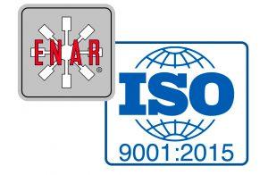 Logotipo enar con el logotipo de la ISO9001-2015
