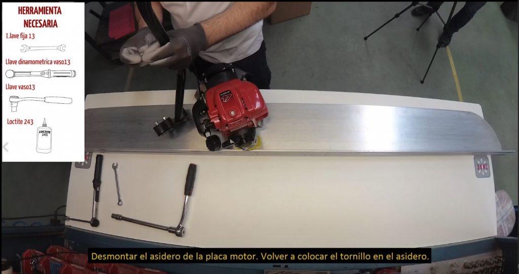 Captura del video de puesta en marcha de la regla vibratoria QX de ENAR