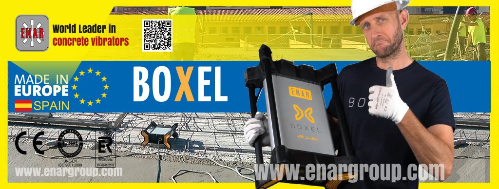 BOXEL. The Boxel high frequency electronic converter for concrete vibrator.