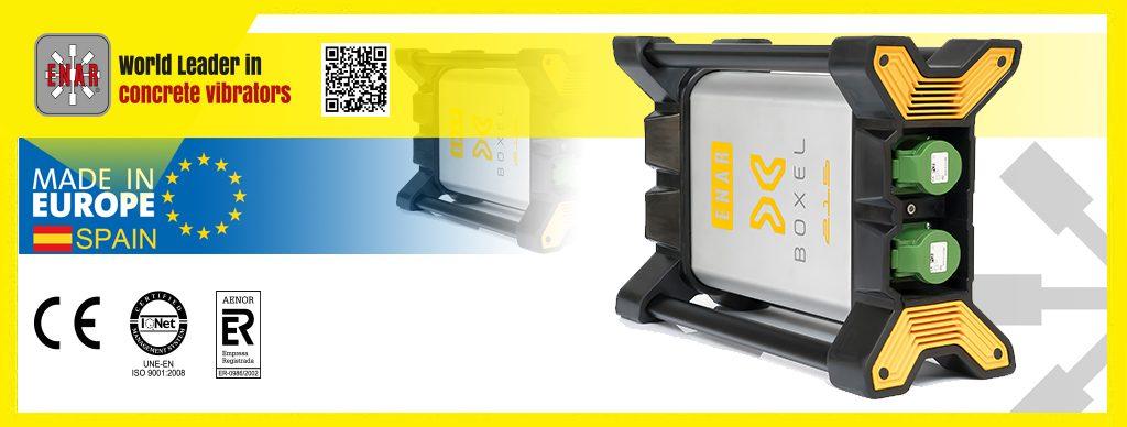 BOXEL. El convertidor electrónico de alta frecuencia para vibrador de hormigón