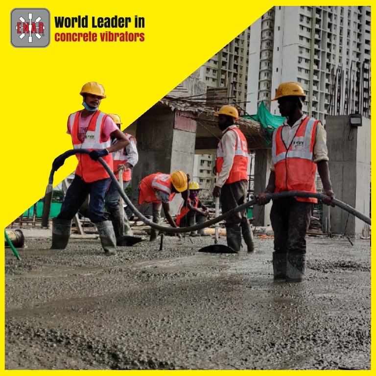 vibration enar concrete workers process