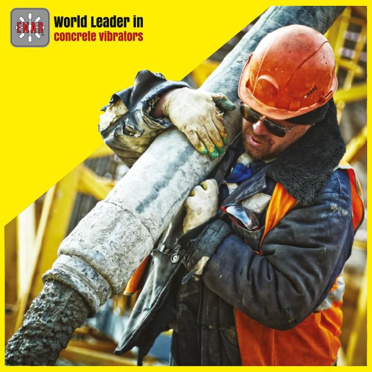 ENAR worker concrete vibration process